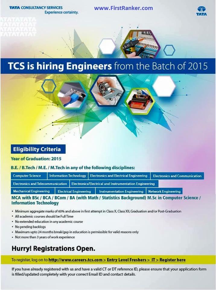 TCS is hiring Freshers