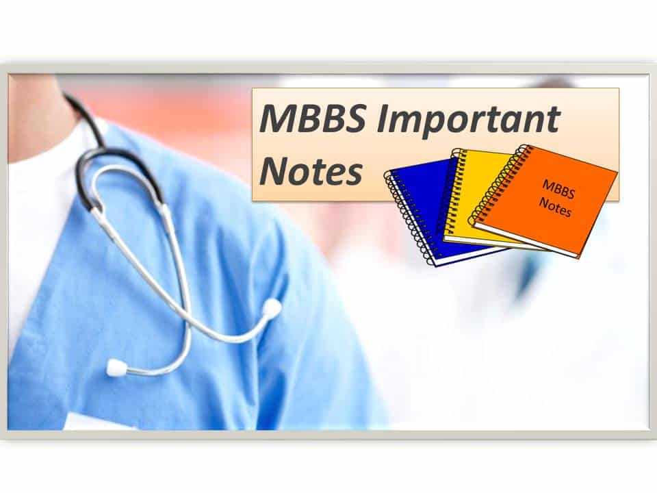 MBBS Lecture Notes for all subjects (updated for 2018 syllabus)